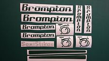BROMPTON CUSTOM stickers,Folding, MBK, Bike, Bicycle Road, Racer, BMX, fixie