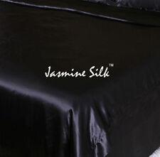 Jasmine Silk 100% 19MM Charmeuse Silk Duvet Cover (Black) - SINGLE