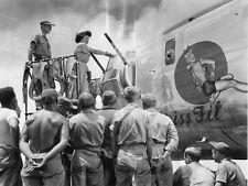WWII Photo B-24 Liberator Christening  WW2 World War Two US Army Air  / 5033