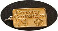 COOL Corvette Convention 79 Gold plated Charm pendant silver