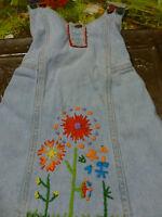 """2 ans !!fillette  Adorable robe en  toile  """"Jeans"""""""