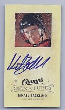 09/10 UD Champs Mikael Backlund mini signatures rookie