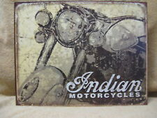 Antique Look Indian Motorcycle Tin Metal Sign Decor Bike NEW