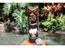"HAWAIIAN 16"" Big Chief Tiki Statue. Polynesian Wood Sculpture. Gifts w/ Aloha!"