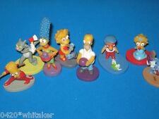 "The Simpsons 2003 ""Zaini"" Chocolates Full set of 8 Figures + checklist"
