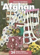 Afghan Jamboree Crochet Instruction Patterns Mile a Minute Ripples Florals +