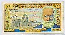 France 1958  5 Nouveaux Francs Over 500 Francs 30.10.1958 137 a