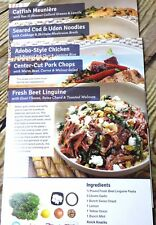 Blue Apron, Lot of 5 Recipe Cards, 1 CHICKEN, 2 FISH, 1 PORK & 1 BEEF Recipes