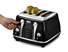 Delonghi Icona Toaster Micalite CTOM4003 Retro Gloss Black 4 SliceToaster New
