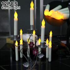 12pcs Battery Operated Candle Lights LED Taper Light Flickering Party Flameless