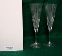 Wedgwood DUCHESS Champagne Toasting Flutes SET OF TWO  MINT IN BOX