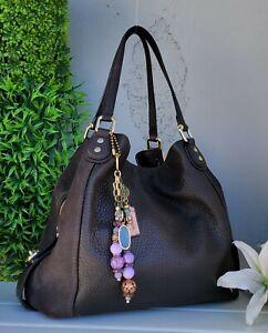 Coach EDIE 42 buffalo leather suede Shoulder Bag purse hobo handbag 20334 brown