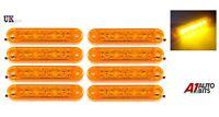 8x 12V 24V 6 LED Amber Orange Side Marker Lights Indicator Trailer Truck Lorry