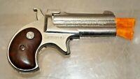 Vintage 1960s Nichols Die Cast Metal Double Barrel Derringer TOY Cap Gun