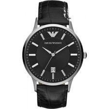 NEU Emporio Armani ar2411 Herren Leder Uhr - 2 Jahre Garantie-Zertifikat