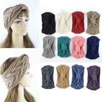 Women Ladies Knitted Knot Headband Head Wrap Ear Hair Band Winter Crochet Turban