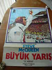 original steve mcqueen lemans turkish movie poster