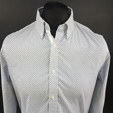 Tommy Hilfiger Mens Shirt MEDIUM Long Sleeve White STRETCH (Slim)  Cotton