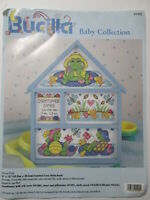 Bucilla Baby Collection Pond Pals Cross Stitch Kit Hutch 9x12 #41490 NIP 1997