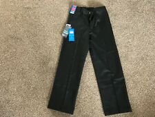 M&S boys school wool blend flat front trousers aged 9-10 years with stormwear te