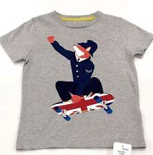 Mini Boden British Flag Police Skateboard Tee. 4-5 Year Retail $30 Price $24 Nwt