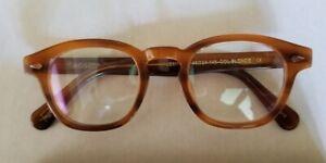 Johnny Depp / James Dean Eyeglasses size 46 24 1950s Style Demi Blonde Tortoise
