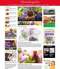 Aromatherapy Essential Oils Health affiliate website for sale OPTIONAL CART