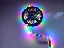 TIRA DE LEDS RGB, 5 METROS APROX.,ADHESIVA,12 VCC,CONECTOR 4 PINES.