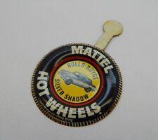 Redline Hotwheels Button Badge Metal Hong Kong Rolls-Royce Silver Shadow R17276
