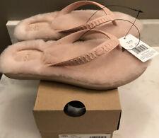 NWT UGG Size 7 Fluffie Sandal Slipper QRT Pale Pink