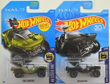 2017 2018 Hot Wheels: UNSC Green & ONI Black WARTHOG - HALO - 2 Car LOT Set NEW