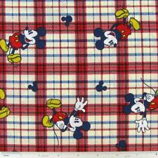 DISNEY MICKEY MOUSE ON PLAID CHECK SPRINGS CREATIVE 100% COTTON CP24419