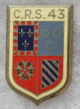 Insigne Badge POLICE Obsolète CRS 43 ancien Drago ORIGINAL FRANCE