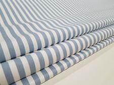 Clarke & Clarke Blue Party Stripe Professional Made to Measure Roman Blind