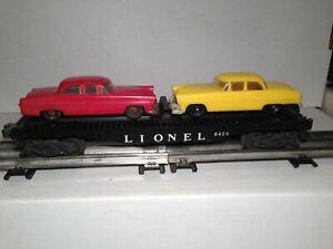 Lionel 6424 Twin Auto Flatcar w/ 2 Original Cars