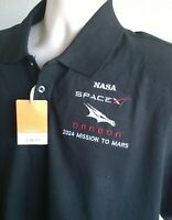MEDIUM SPACE X  NASA POLO SHIRT DRAGON  2024 MISSION TO MARS