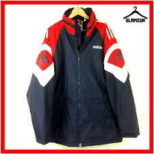 Adidas Originals Vintage Managers Coat Jacket Red Blue 44-462XL XXL Bench 90s