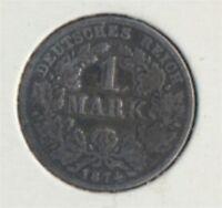 Deutsches Reich Jägernr: 9 1874 C sehr schön Silber 1874 1 Mark (7849301