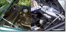 2 Cromo Acciaio Inox Molla Cofano VW Golf 3 + Vento Alza Lucidato Ammortizzatore