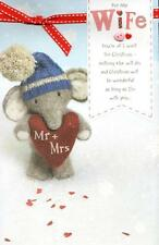 Wife Elliot & Buttons Christmas Greeting Card New Heartfelt Range Xmas Cards