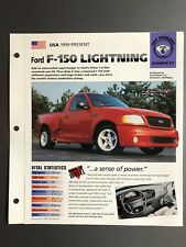 "1999 > Ford F-150 Lightning Pickup IMP ""Hot Cars"" Spec Sheet / Folder Brochure"
