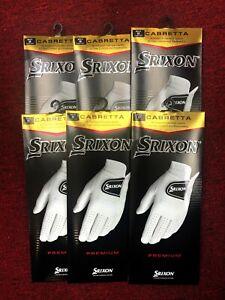 (6-Pack) New 2022 Srixon 100% Premium Cabretta Mens Leather Golf Gloves