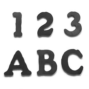 Letters and Numbers - Steel, for house signs, gates. Rustic Style - 60mm MCLN001