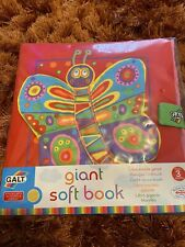 Galt GIANT SOFT BOOK Baby Activity Toy New From 3 Months