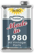 Aged Metal Tin Oil Can MADE IN 1980 Retro Novelty Ratlook Motorcycle car sticker