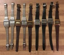 Vintage Timex Q Digital Ladies Watches Rare One Bar Model Lot Of 9-As Is Read