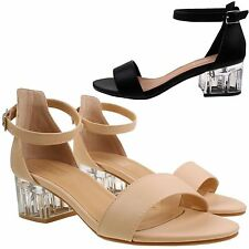 Women's Synthetic Leather Block Ankle Straps Formal Shoes