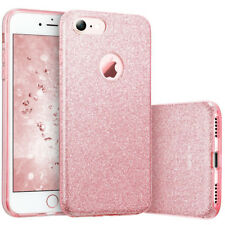 COVER Custodia Glitter Morbida Silicone GEL per Apple iPhone 7 e 8 Rosa