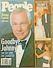 People Magazine, Feb. 205, Trump Wedding private album, Johnny Carson farewell