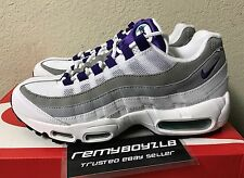 Nike Air Max 95 OG White Court Purple Green Wolf Grey Grape Women's Sz 8.5 NEW!!